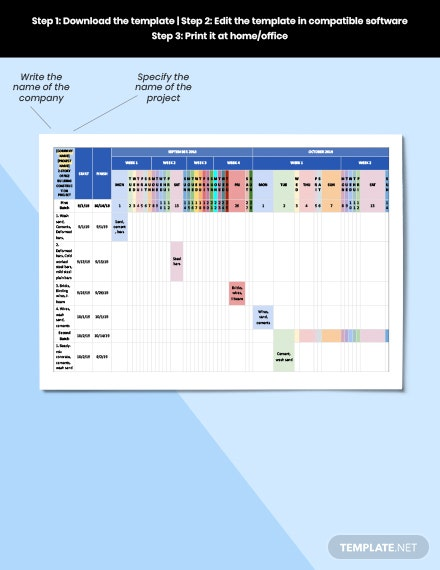 Construction Materials Schedule Format