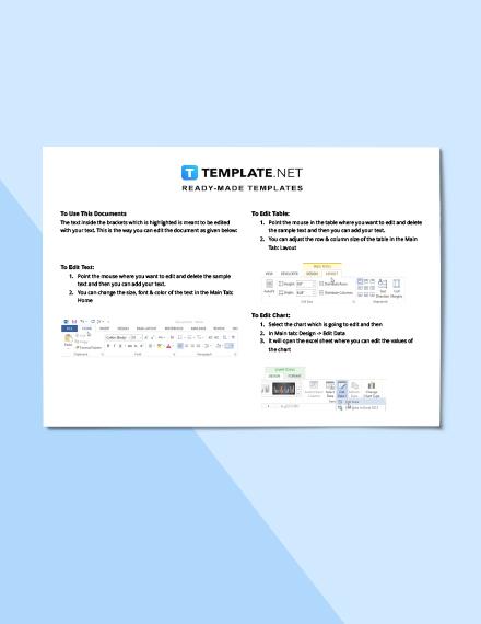 Construction Materials Schedule Instructions