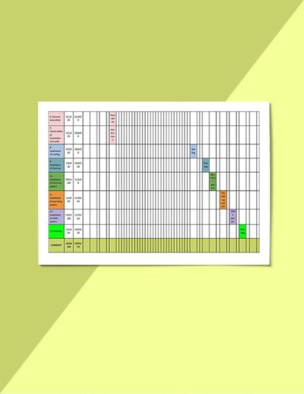 Construction Job Schedule Template