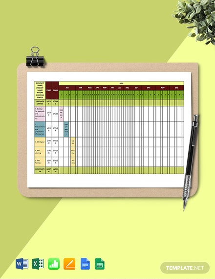 Construction Job Schedule Template