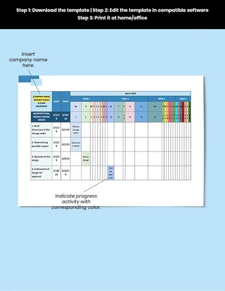 Construction Change Management Schedule Format