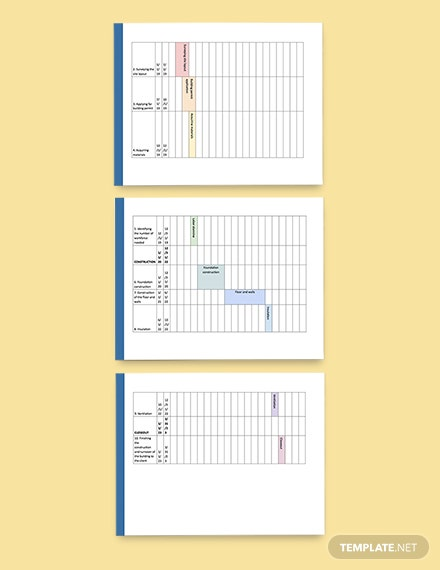 Construction Annual Schedule Template