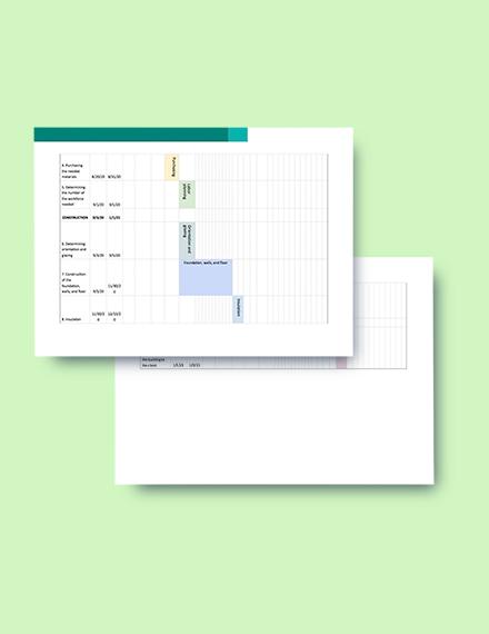 Construction Activity Schedule Template