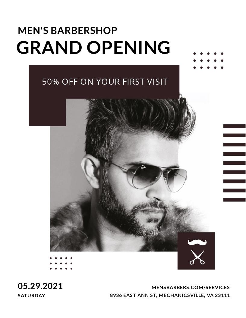 Barbershop Grand Opening Flyer Template.jpe