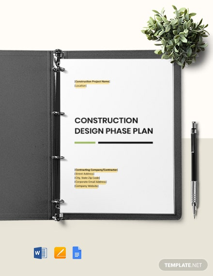 Construction Design Plan Template