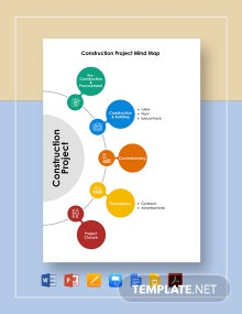 Construction Project Mind Map Template