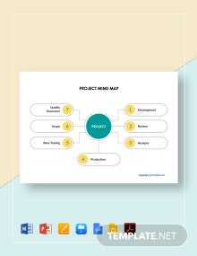 Free Sample Project Mind Map Template