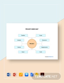 Simple Project Mind Map Template