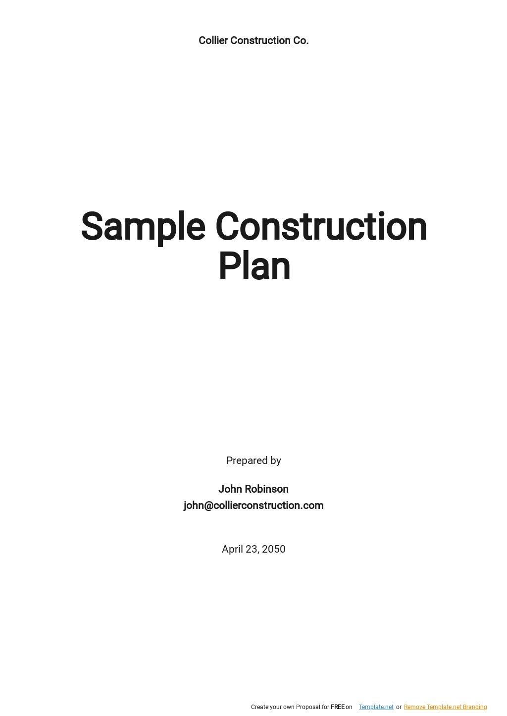 Sample Construction Plan Template.jpe