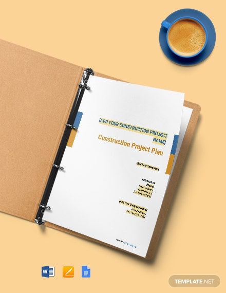 Free Simple Construction Plan Template