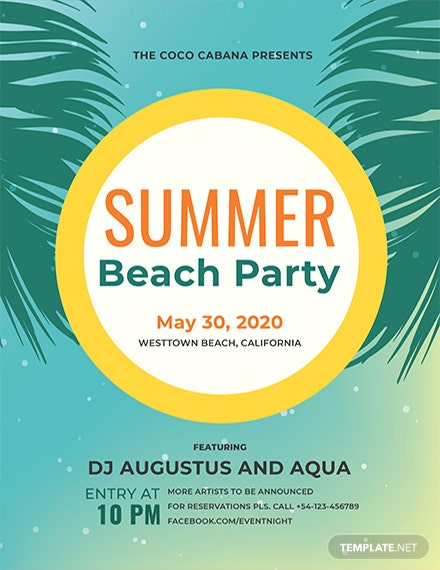 beach party flyer template 2