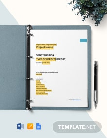 Free Blank Construction Report Template