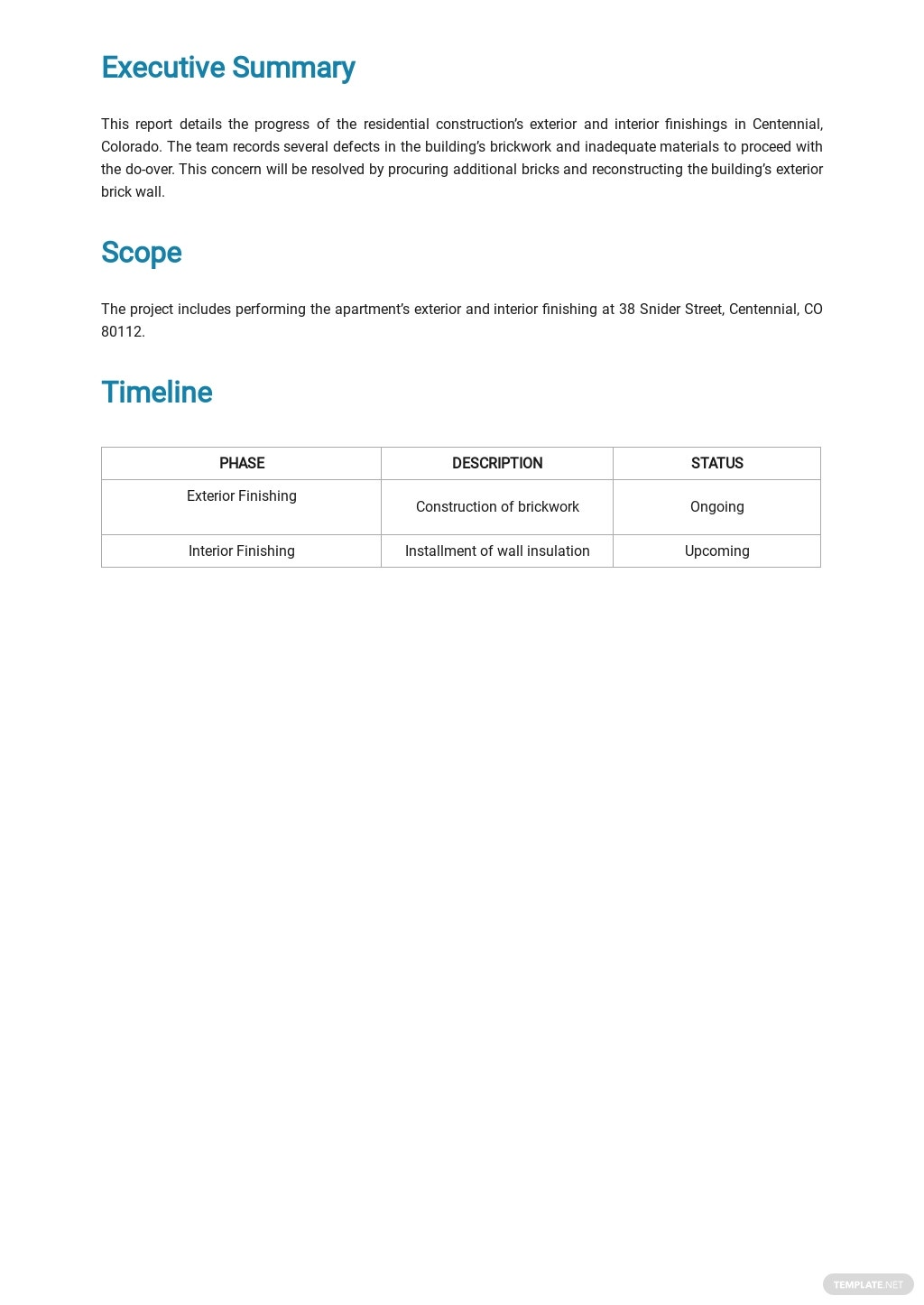 Free Sample Construction Report Template 1.jpe
