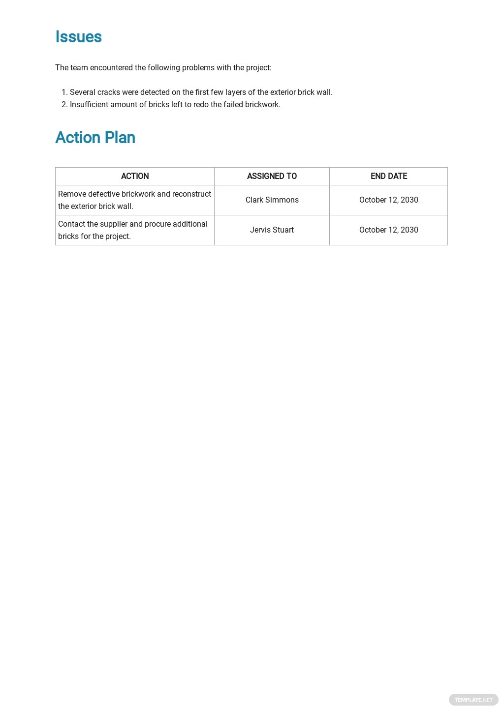 Free Sample Construction Report Template 3.jpe