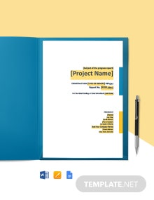 Free Sample Construction Report Template