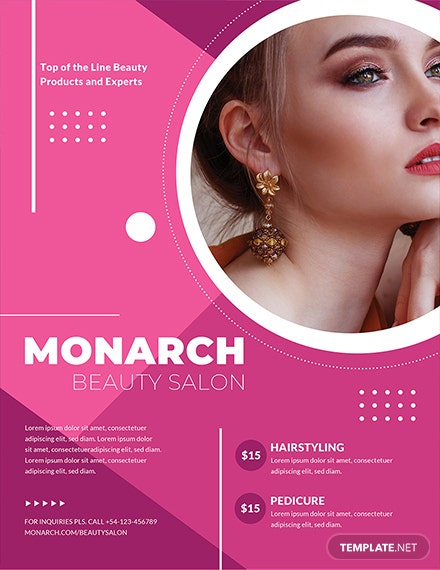 FREE Beauty Salon Flyer Template InTemplate: Download 681