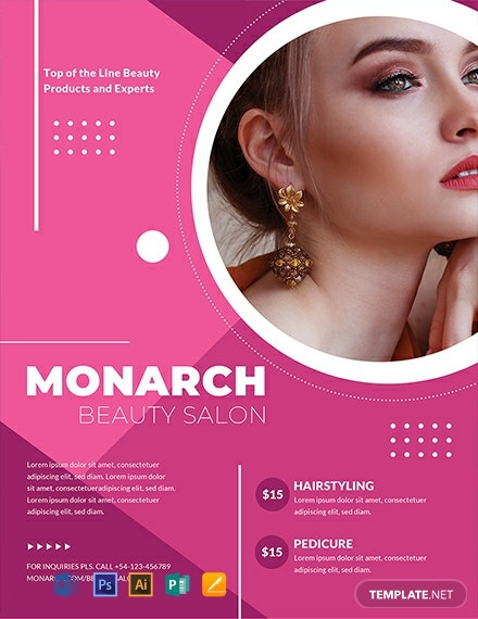 Free Beauty Salon Flyer Template Word Doc Psd Apple Mac Pages Publisher Illustrator Template Net