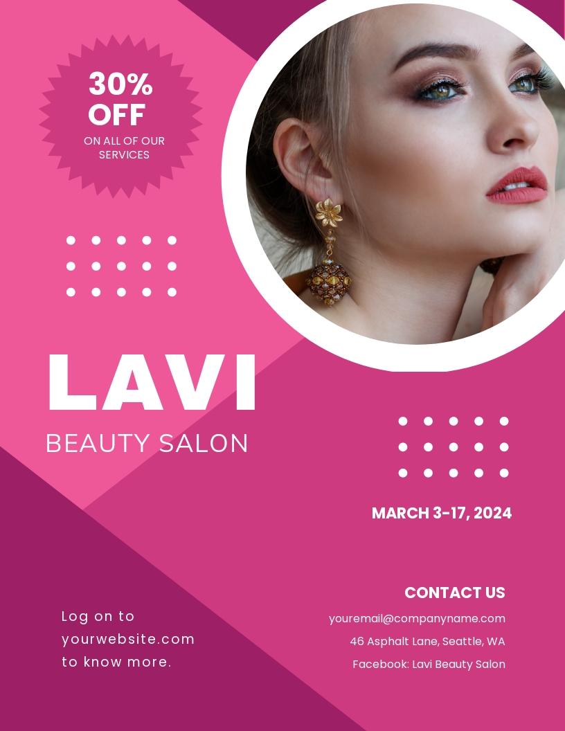 Free Beauty Salon Flyer