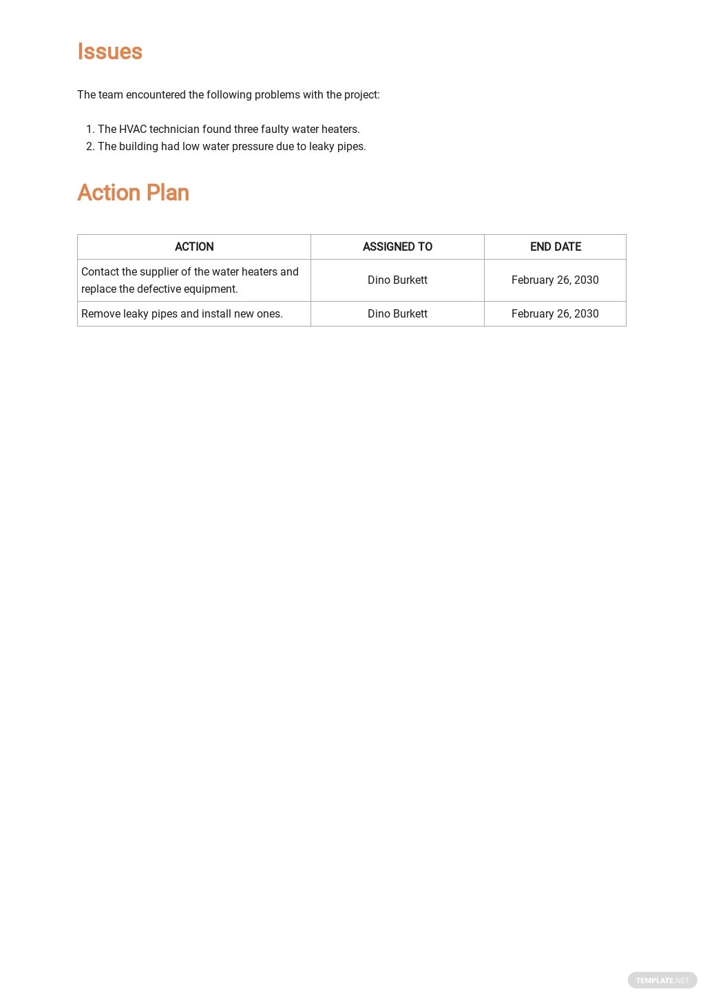 Free Printable Construction Report Template 3.jpe