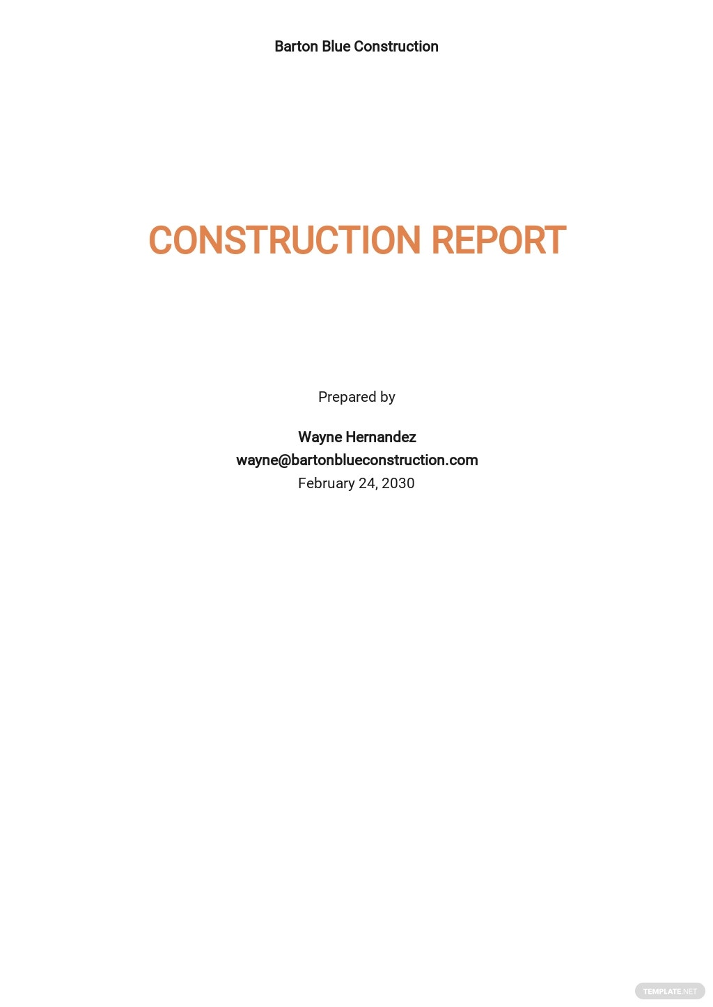 Free Printable Construction Report Template.jpe