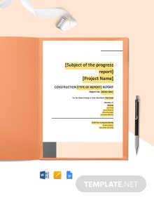 Free Printable Construction Report Template