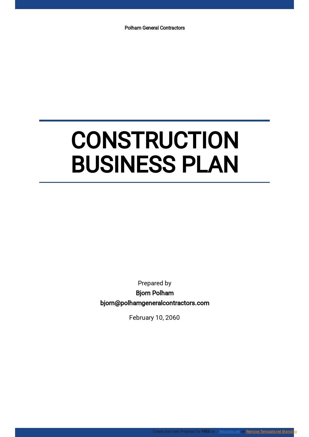 Sample Construction Business Plan Template.jpe