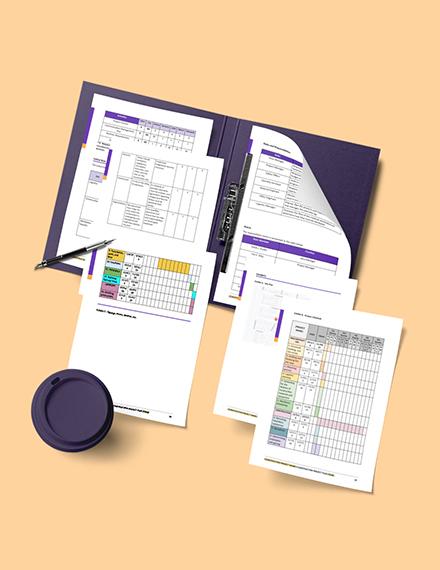 Construction Logistics Plan Schedules