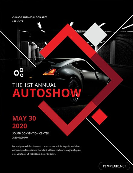 Free Car Show Flyer Template Download Flyers In PSD - Car show flyer template word