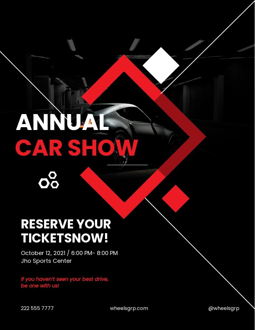 FREE Car Show Flyer Template.jpe