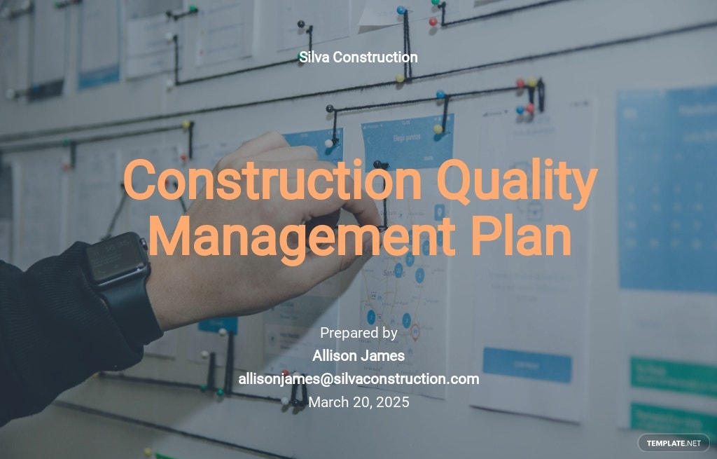 Construction Quality Management Plan Template
