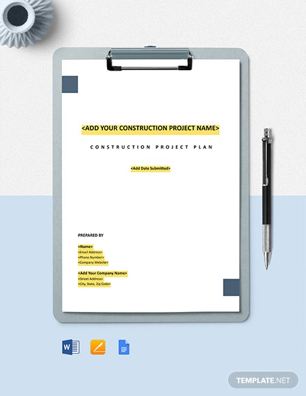 Construction Scope Management Plan Template