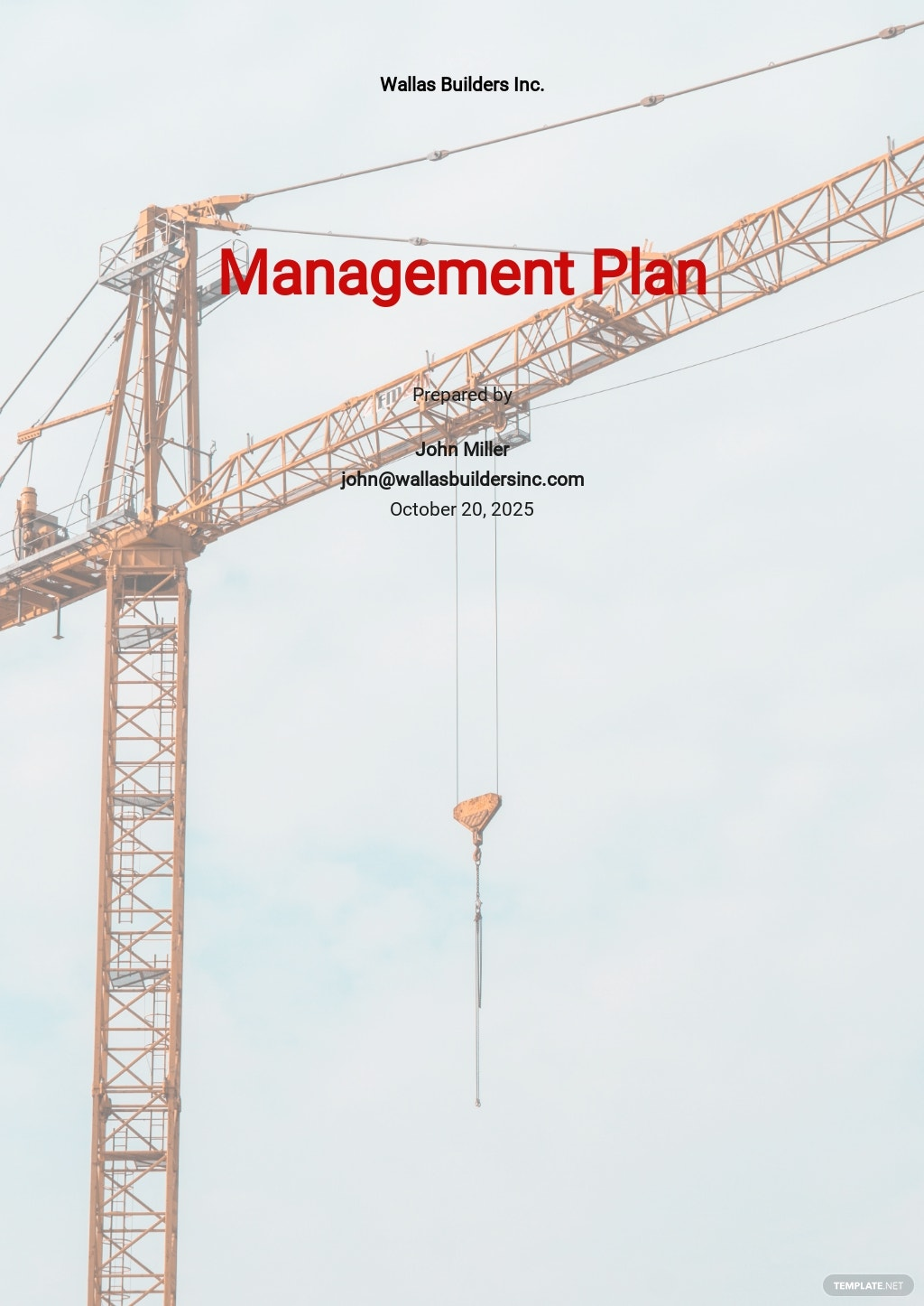 Construction Safety & Environment Management Plan Template
