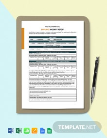 Construction Employee Incident Report Template