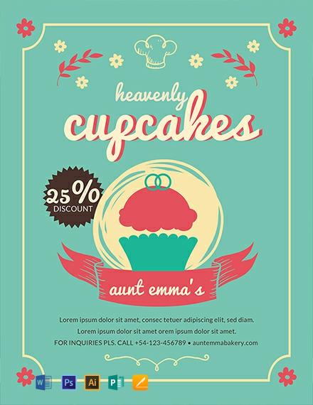 Free Cupcake Bakery Flyer