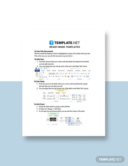 Notice of Subcon Variation Template guide