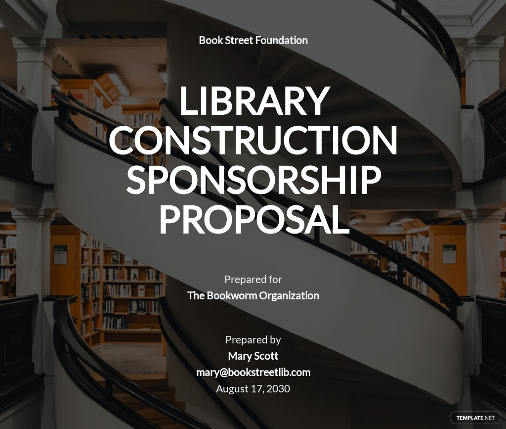 Construction Sponsorship Proposal Template