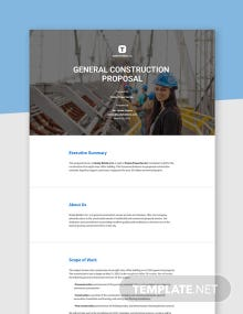 Free General Construction Proposal Template