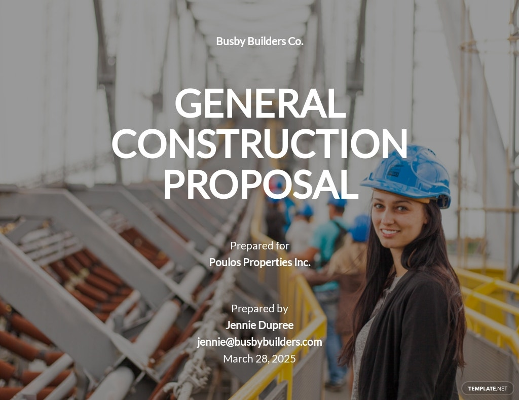 General Construction Proposal Template