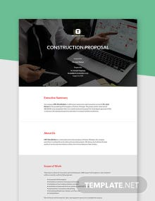 Free Simple Construction Proposal Template