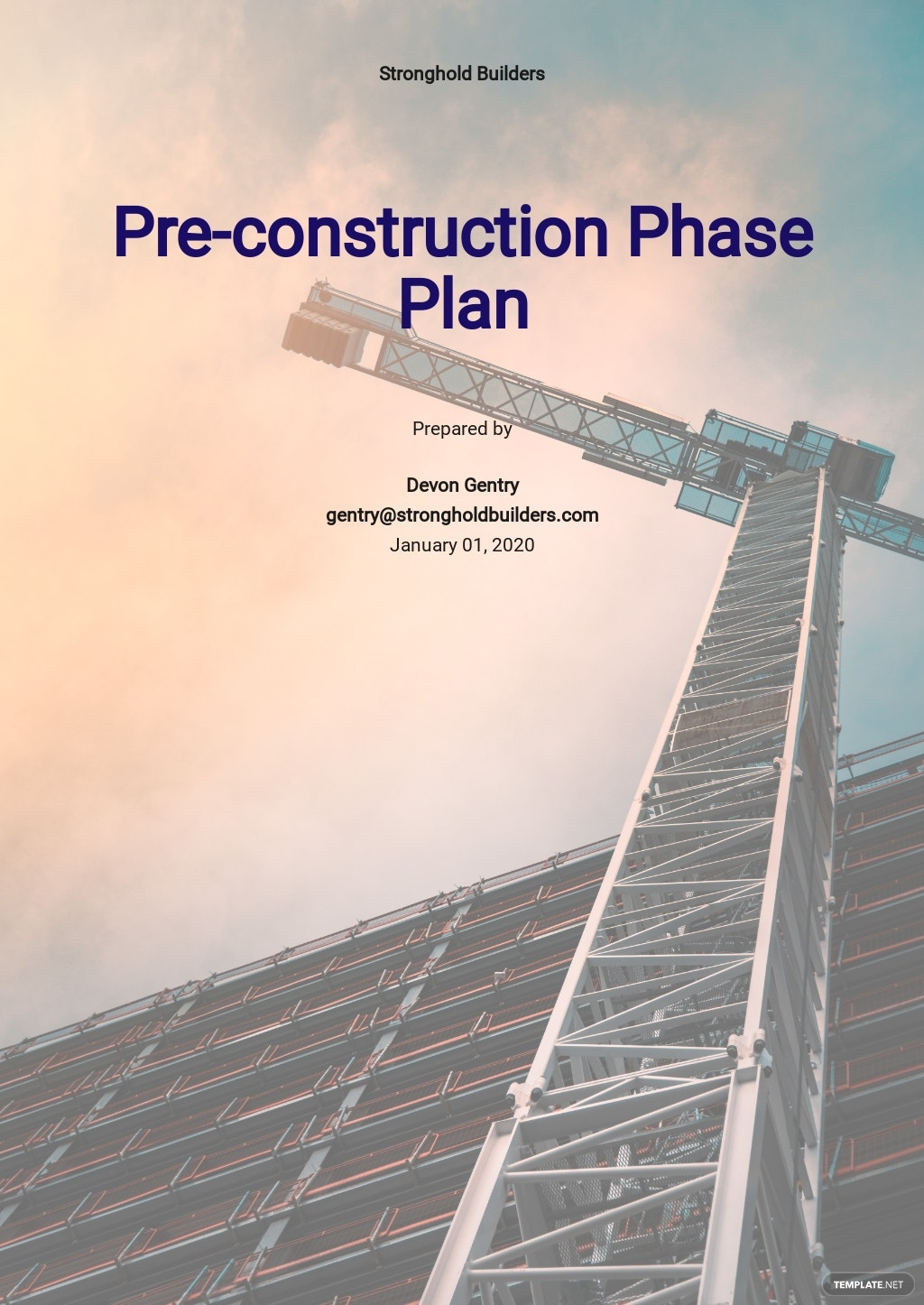 Pre Construction Phase Plan Template.jpe