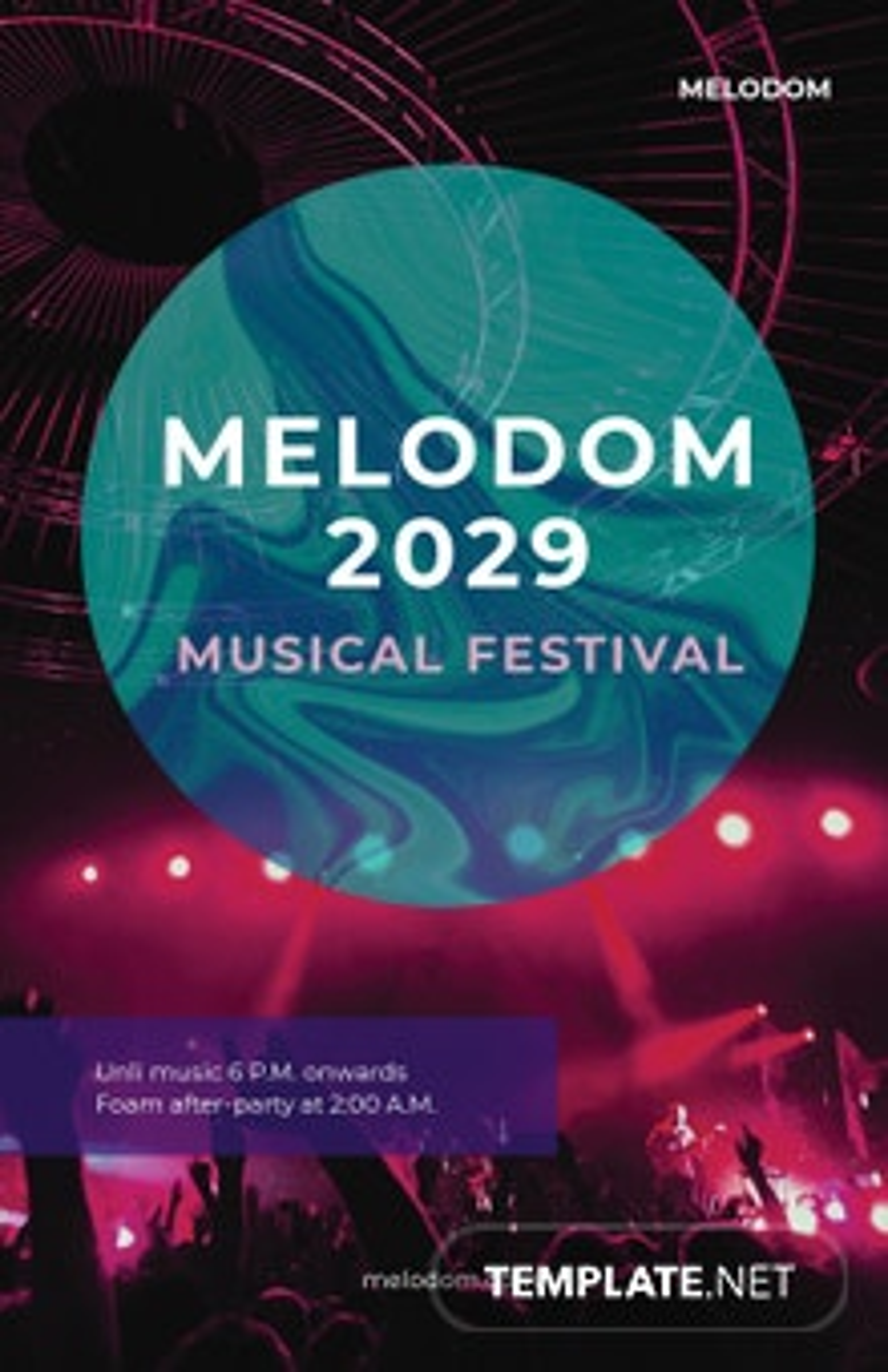 Creative Music Festival Poster Template