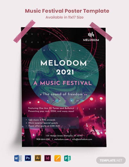 Creative Music Festival Poster Template