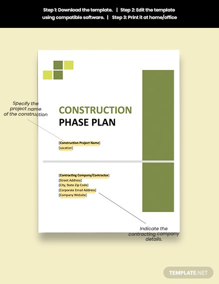 Small Construction Phase Plan Download