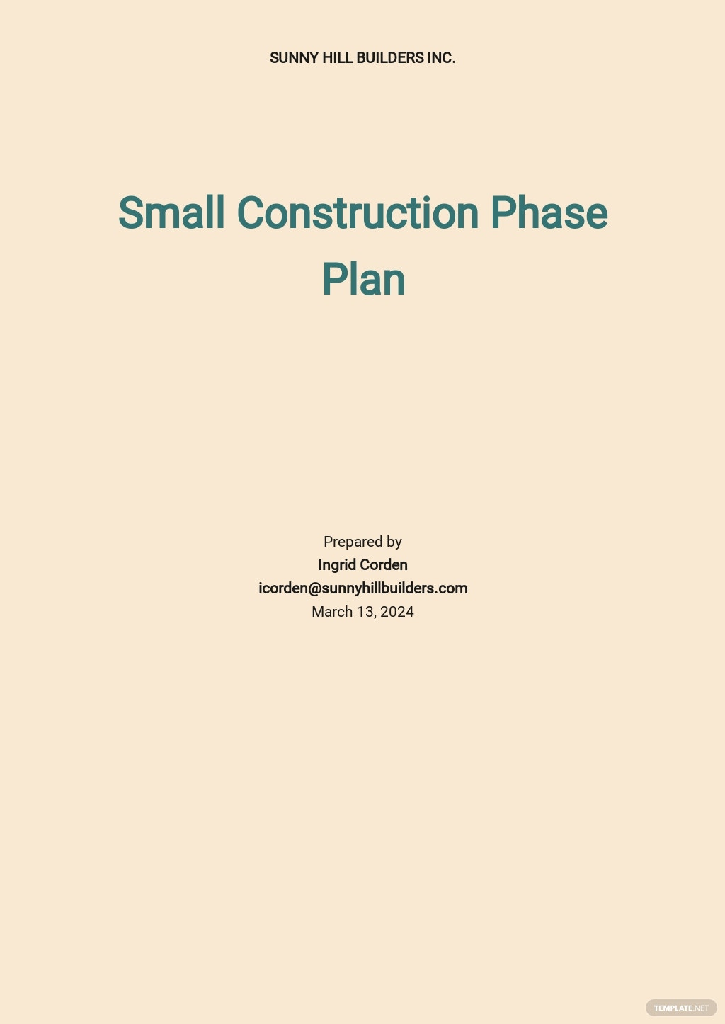 Small Construction Phase Plan Template.jpe