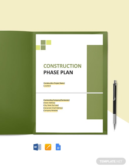Small Construction Phase Plan Template