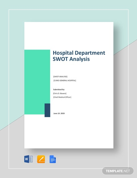 Hospital Department SWOT Analysis Template