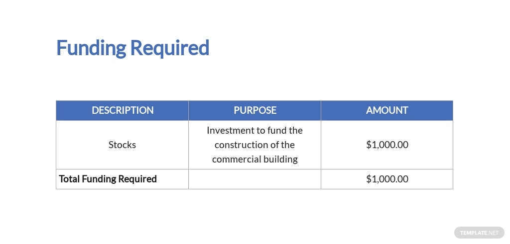 Construction Stock Investment Proposal Template [Free PDF] - Google Docs, Word, Apple Pages