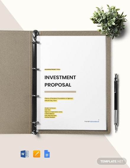 Free Basic Construction Investment Proposal Template