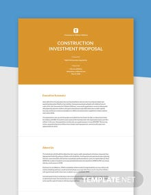 .Free Simple Construction Investment Proposal Template