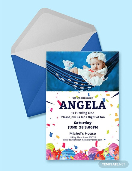 Free First Birthday Invitation Card